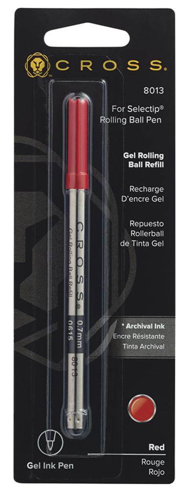 Купить Стержень гелевый средний (красный) CROSS 8013, Красный