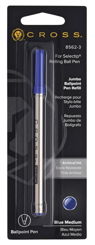 Купить Стержень шариковый Jumbo для ручки-роллера средний (синий) CROSS 8562-3, Синий