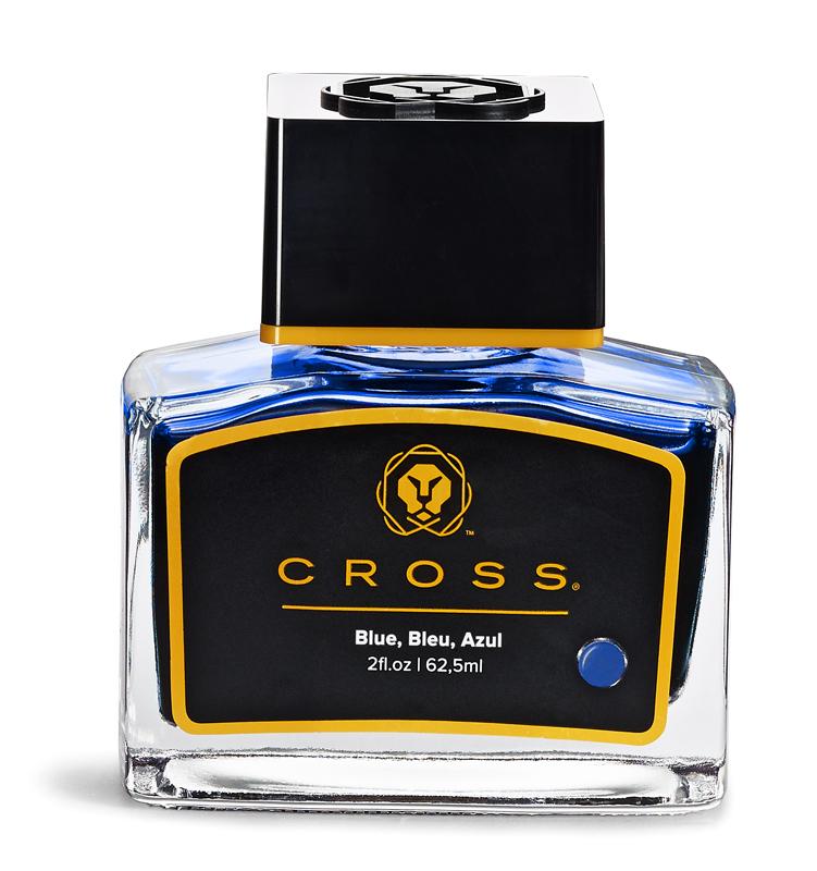 Купить Флакон с синими чернилами для перьевой ручки (62, 5 мл) CROSS 8945S-1 blue, Чернила, Синий