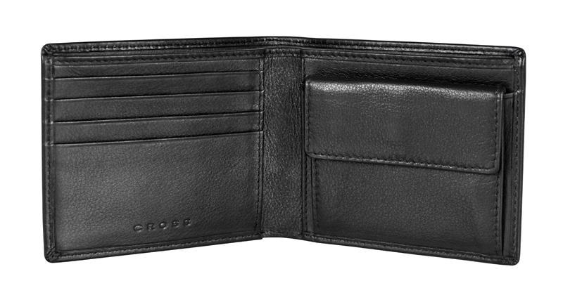 Купить Кошелёк Cross Concordia Black, кожа наппа, гладкая, чёрный, 11 х 9 х 1, 5 см, AC1108072_1-1