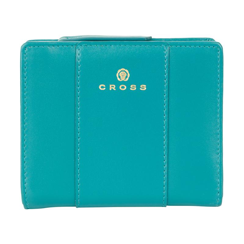 Купить Кошелёк Cross Kelly Wall Turquish, кожа наппа, гладкая, цвет тёмно-бирюзовый, 11, 2 x 9, 4 x 2 см, AC928083_1-28