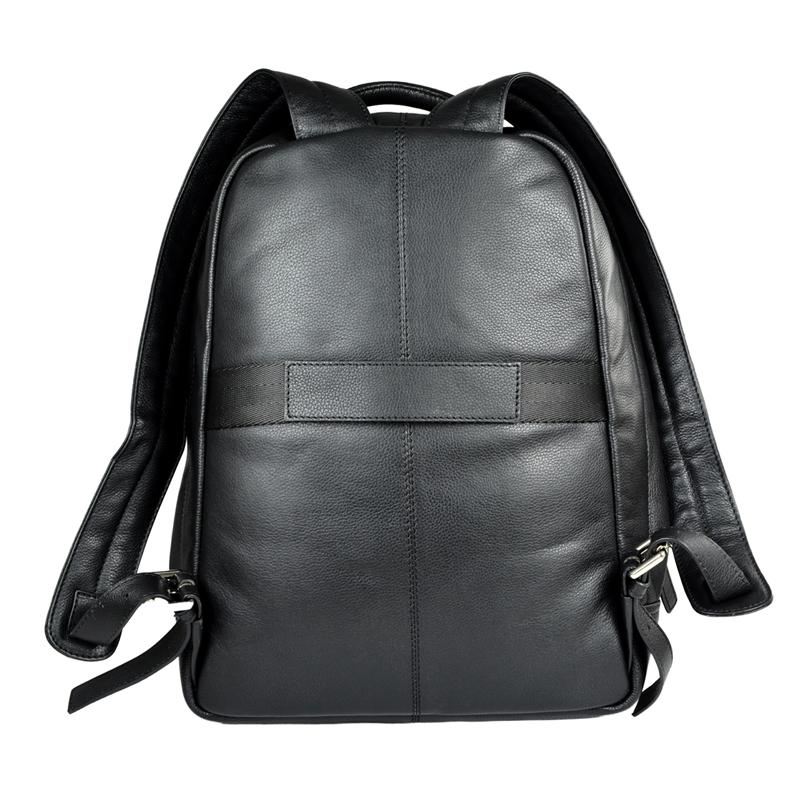 Купить Рюкзак мужской Cross Renovar Black, кожа наппа, комбинированная фактурная и гладкая, чёрный, 41 х 32 х 13 см, AC942262_2-1