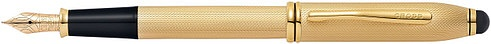 Ручка перьевая со стилусом<br/>Townsend® Stylus Brushed 23K Heavy Gold Plate<br/>AT0046-42MD
