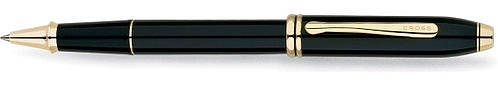 Ручка-роллер<br/>Townsend® Black Lacquer / 23R Gold Plated<br/>575