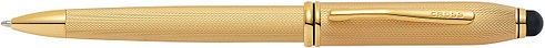 Ручка шариковая со стилусом<br/>Townsend® Stylus Brushed 23K Heavy Gold Plate<br/>AT0042-42