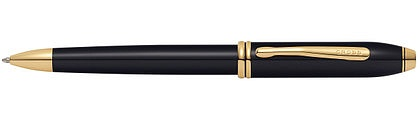 Ручка шариковая<br/>Townsend® Black Lacquer / 23R Gold Plated<br/>572TW