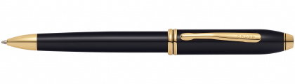 Ручка шариковая<br/>Townsend® Black Lacquer / 23K Gold Plated<br/>572TW