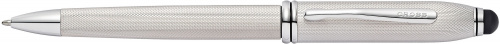 Ручка шариковая со стилусом<br/>Townsend® Stylus Brushed Platinum Plate<br/>AT0042-43